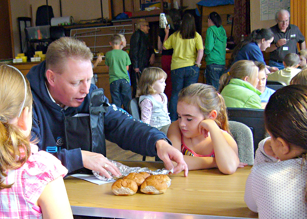David surgenor helping with Crumlin Outreach